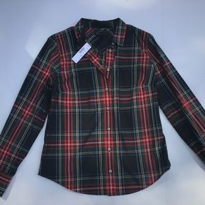 NWT J. CREW PERFECT SHIRT TARTAN SIZE 6